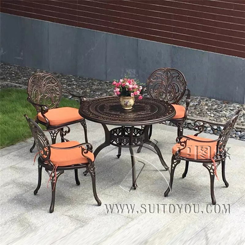 все цены на 5-piece cast aluminum chair and table patio furniture garden furniture Outdoor furniture