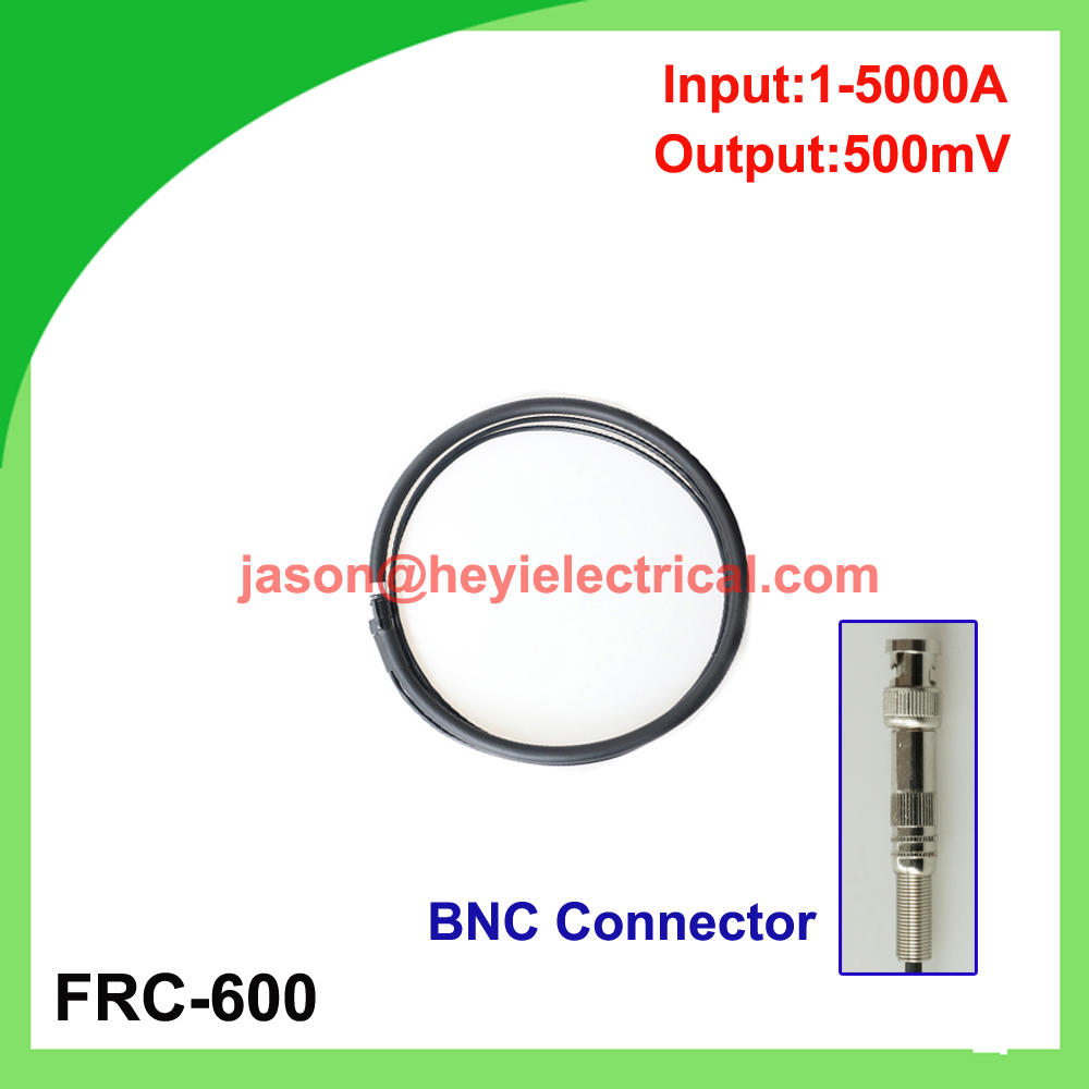 input 5000A FRC-600 flexible rogowski coil with BNC connector output 500mV split core current transformer input 5000a frc 600 flexible rogowski coil with bnc connector output 500mv split core current transformer
