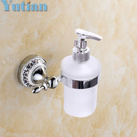 Free Shipping Soap Dispenser With Holder Wall Mounted Soap Dispenser Liquid Soap Dispensers YT 11893