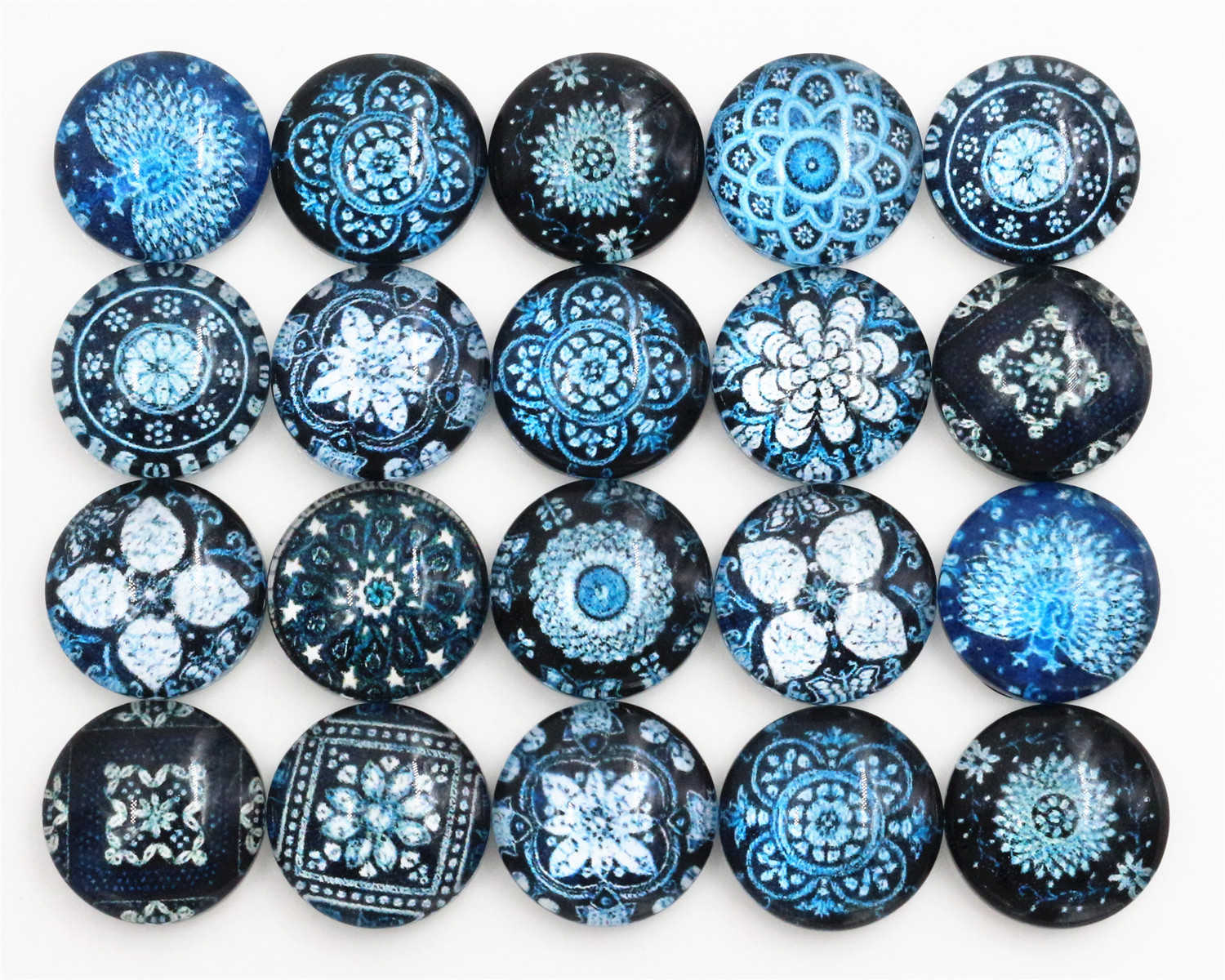 50pcs/Lot 12mm Photo Glass Cabochons Mixed Color Cabochons For Bracelet Earrings Necklace Bases Settings-C4-13