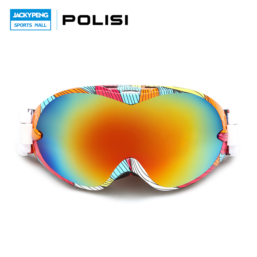 POLISI Winter Ski Skiing Glasses UV400 Protection Snowboard Goggles Snowmobile Motocross Goggles Men Women Protective Eyewear topeak outdoor sports cycling photochromic sun glasses bicycle sunglasses mtb nxt lenses glasses eyewear goggles 3 colors