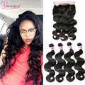 360 Lace Frontal With Bundle Cheap 4 Bundles With Closure Malaysian Body Wave 360 Lace Virgin Hair Frontal Closure With Bundles