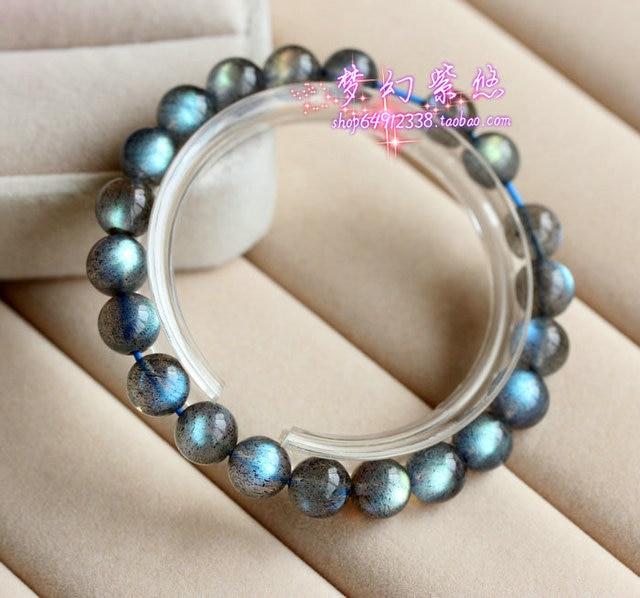 Grey Natural Moonstone Bracelet The Blue Labradorite Blu Ray Women Crystal