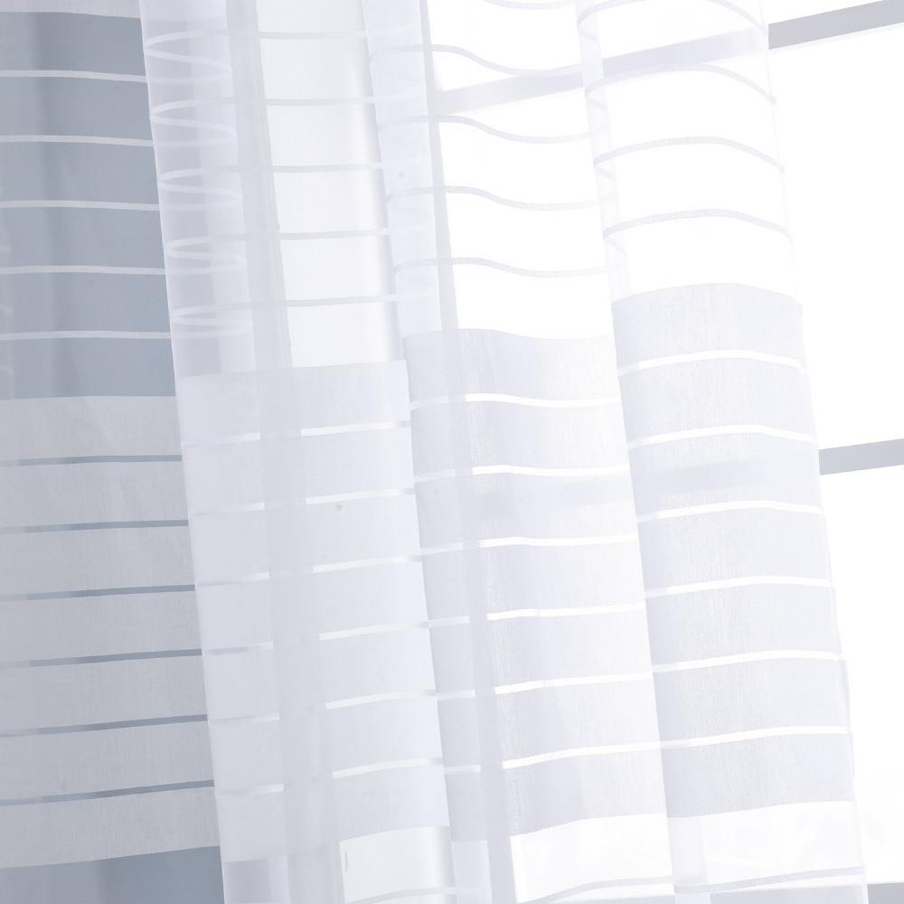Window Screening White Sheer Burntout Curtains Europe Style Curtains ...