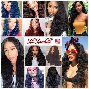 """Image 5 - ALI ANNABELLE włosy peruwiański luźne fale włosów maszyna podwójne włosy wątek 100% Remy ludzki włos włosy wyplata wiązki 1/3/ 4 sztuk 10 """" 28"""""""