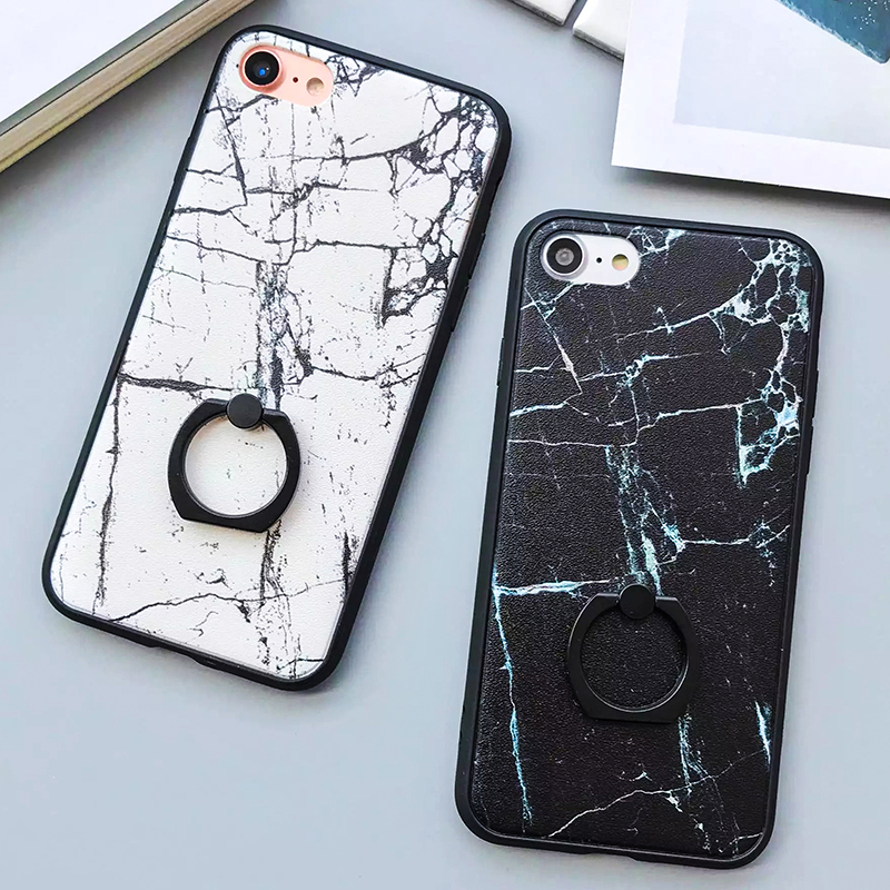 Lack Fashion Classics Black White Marble Case For Iphone 7