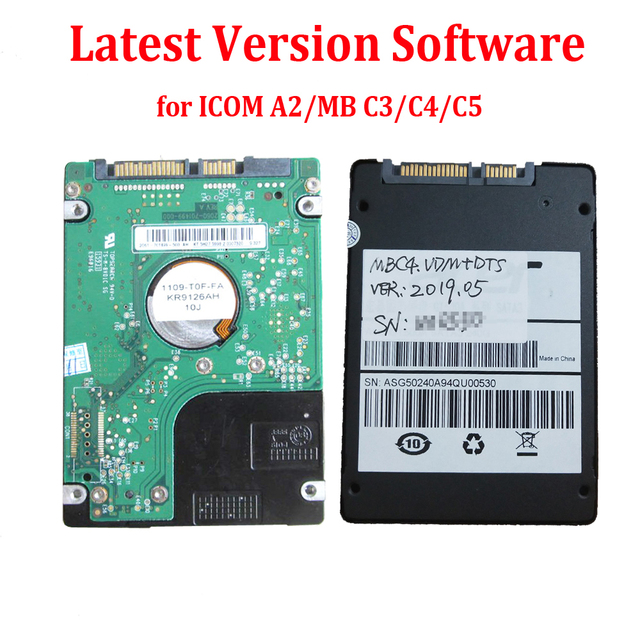 Latest Version Full Software HDD/SSD for MB STAR C3/C4/C5 ICOM A2/NEXT V2019.05 Works D630 CF19 CF30 X200T Most of Laptop