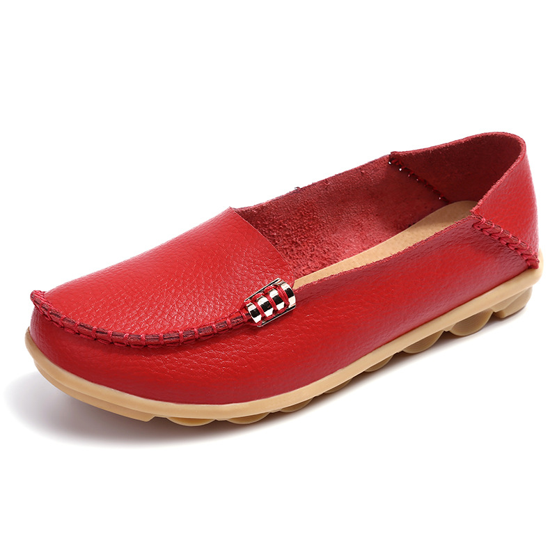 UVWP Shoes Women Moccasins Soft Slip-On Genuine-Leather Ladies New 35-44 Casual Plus-Size