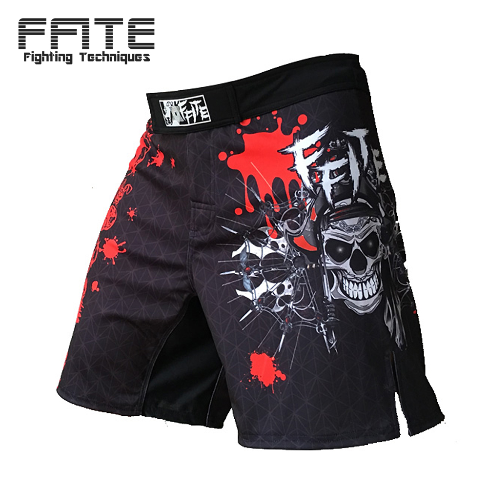 FFITE mma short Fighting Muay Thai Short Boxing Pants heren fitnessshorts 2018 Kleding sanda Boxeo trunks grappling fights sport