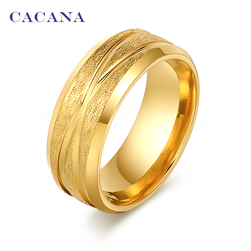 CACANA Titanium Stainless Steel Rings For Women Cross Lines Fashion Jewelry Wholesale NO.R44