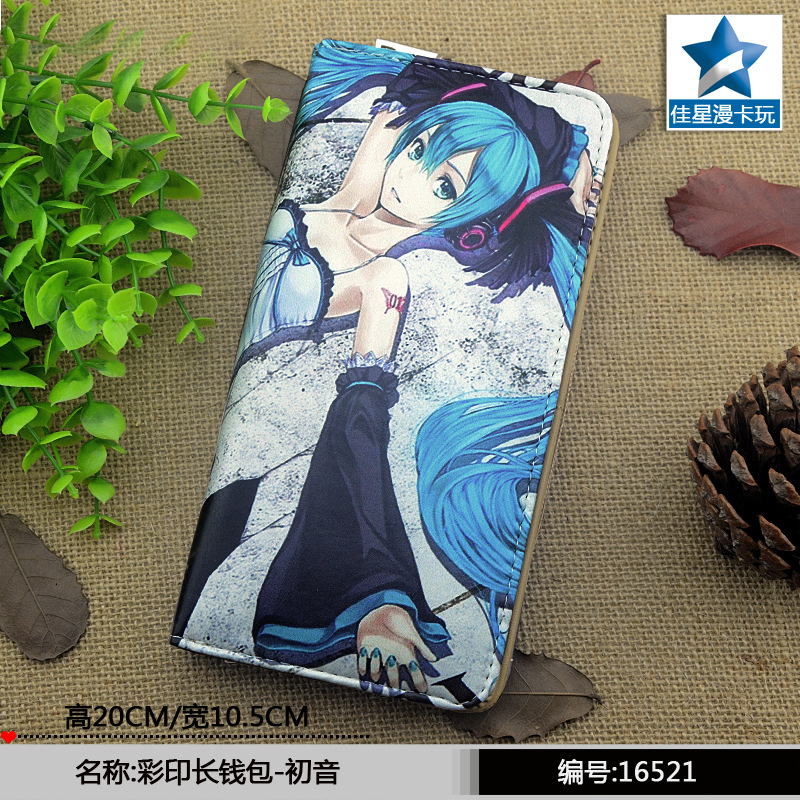 anime Hatsune Miku wallet cartoon color printing women men wallet Long zipper purse 5 pcs lot cartoon anime wallet wholesale nintendo game pocket monster charizard pikachu wallet poke wallet pokemon go billetera