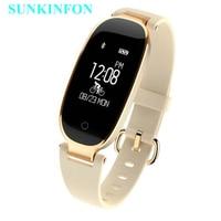 S3 Bluetooth Waterproof Smart Watch Wristband Fashion Women Ladies Heart Rate Monitor Fitness Tracker Smartwatch For