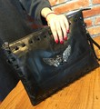 2017 Hot Sale Pocket Zipper New Winter Leather Joining Together With The Envelope Bag Sheepskin Multi-function Single Shoulder