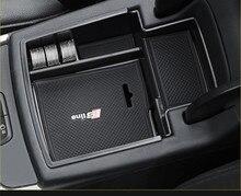 Автомобиль организатора для Audi Q5 2009-2017 подлокотник ящик для хранения Контейнер держатель лотка автомобильные аксессуары для укладки