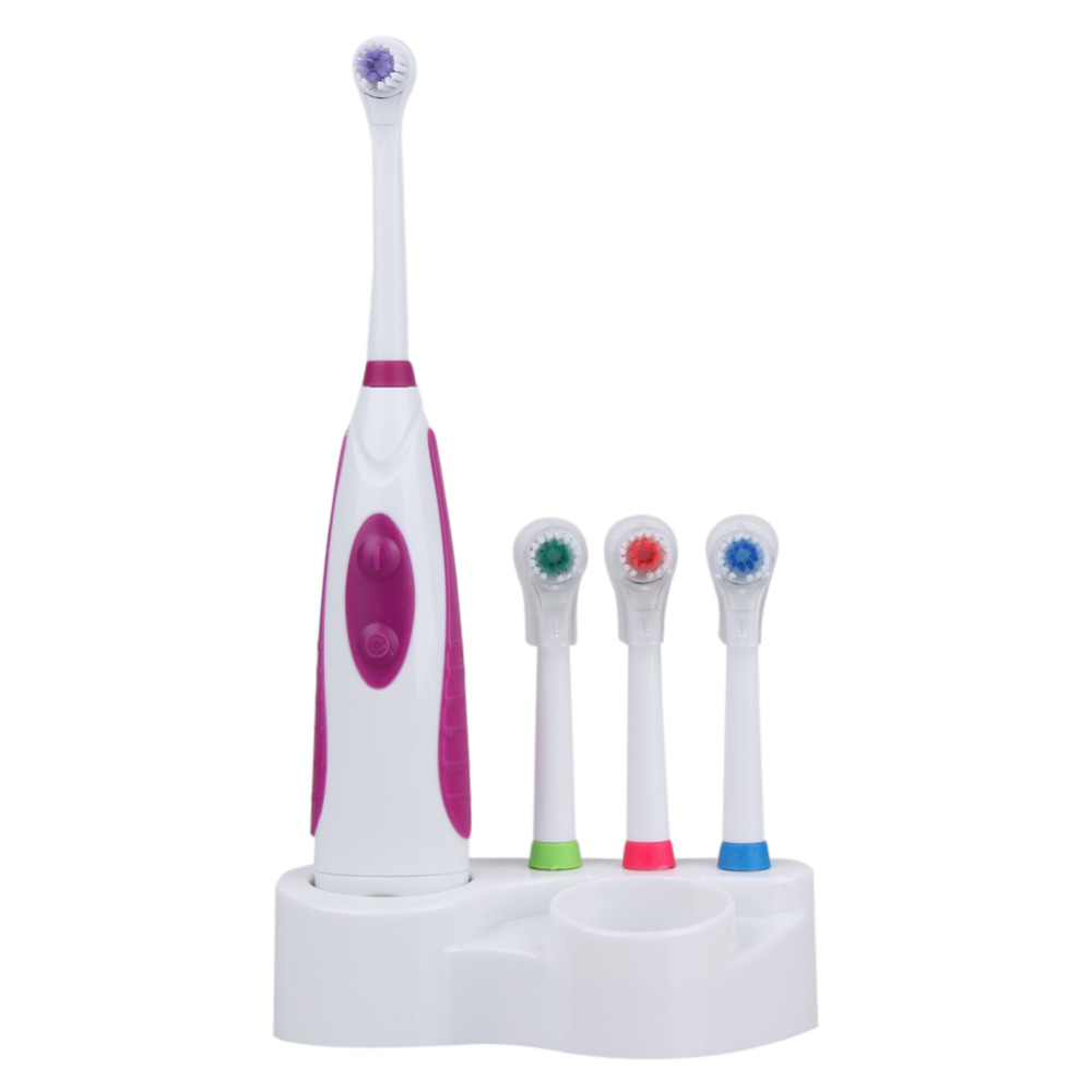 1 pcs Electric Waterproof Toothbrush Holder 3 Replacement Heads Teeth Brush Oral Care Dental Cleaning with 4 Toothbrush Heads touchbeauty 3 in1 rotating facial cleansing brush set with 3 replacement brush heads 2 speed settings with storage box tb 0759a