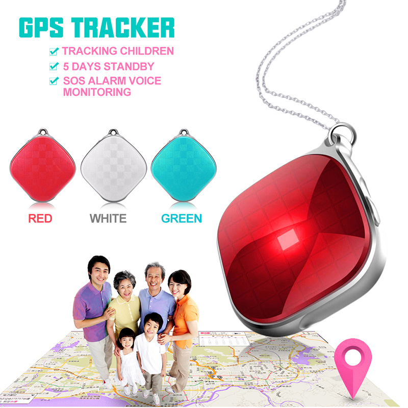 Mini A9 GPS Tracker Necklace SOS Call Remote Voice Monitor GPS WiFI LBS Real Time Tracking for Kids the Elderly and Pets portable et017s real time gps tracker for kids child elderly personal mini