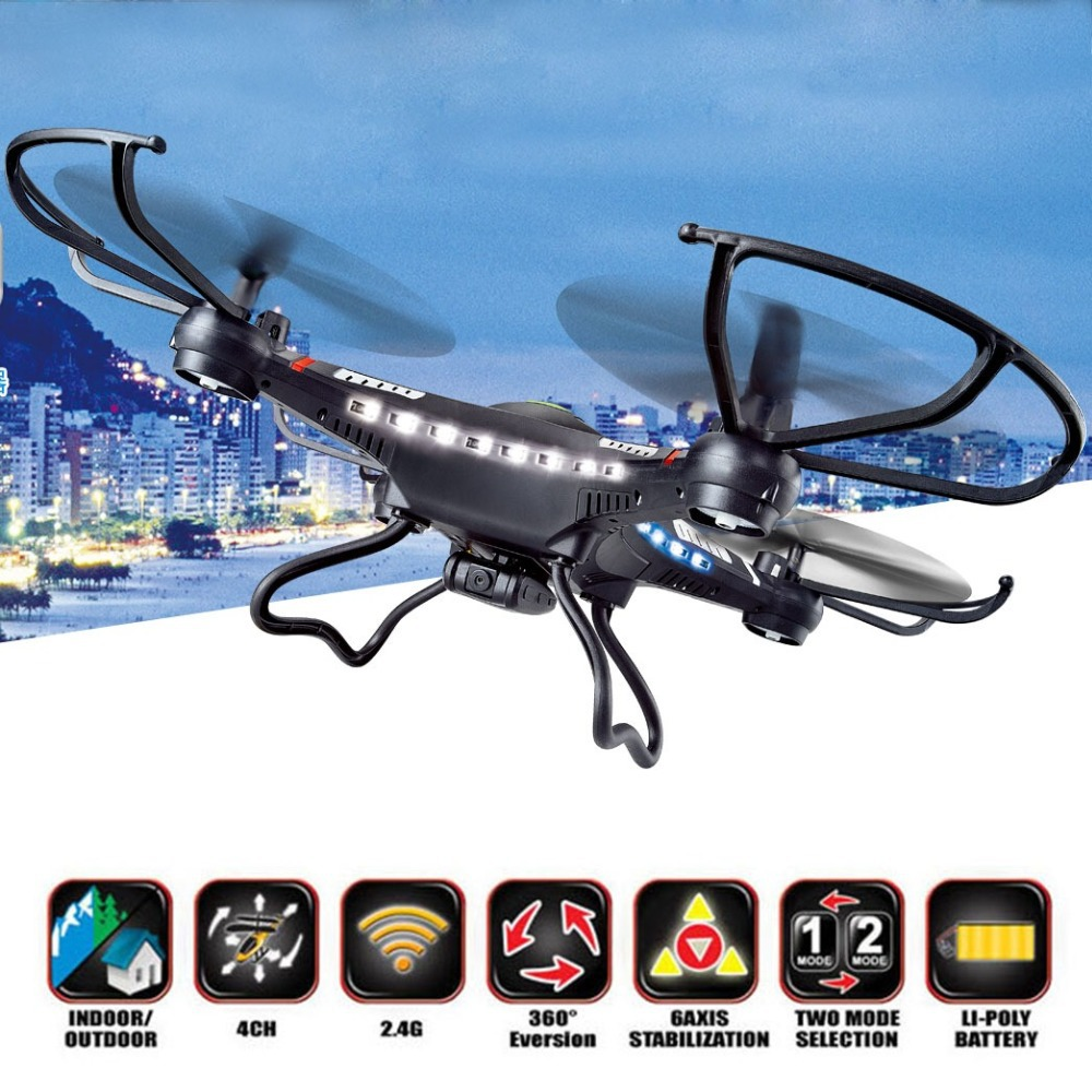 RC Drone DFD 31CM JJRC H8C 2.4G Helicopter 4-Axis GYRO Quadcopter With LED Light H8C-2 with 2MP Camera or H8C-1 without Camera 2015 new jxd391 2 4g 4ch rc helicopter 6 axis gyro rc quadcopter with camera and flashing led light big drone as festival gift
