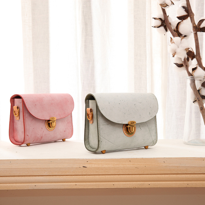 Yifangzhe feminino pequeno vintage genuíno bolsa de