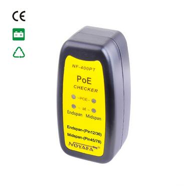Free Shipping, NOYAFA NF-400PT PoE Tracker Use For Identify The Type Of Power Source 802.3at/af PoE Standard