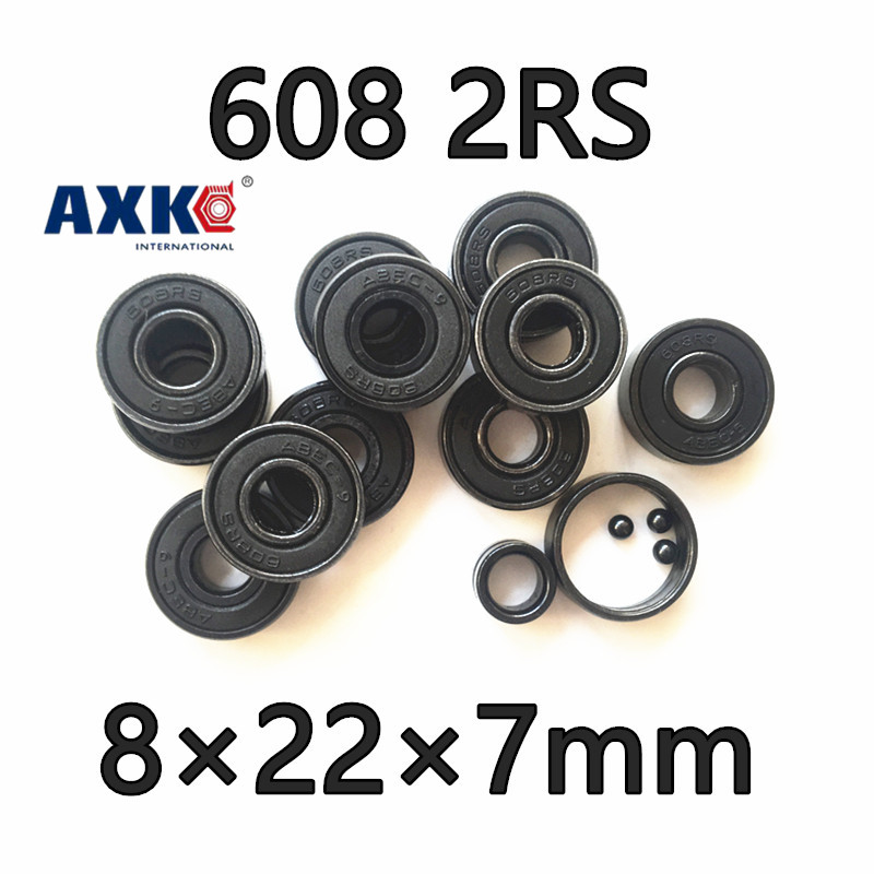 2017 Sale Free Shipping 608 2rs Bearing 8x22x7 Mm Miniature Longboard Skateboard Ball Bearings 608rs Black Double Rubber Abec7 free shipping skateboard bearing 16pcs lot 608rs 608 2rs 608 ilq 9 pro bearings cover rubber seals