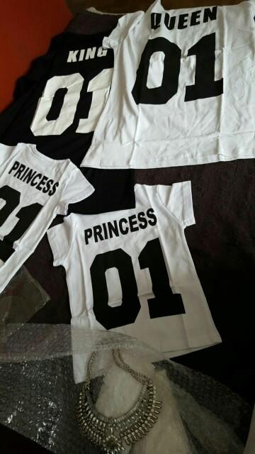 BKLD New 100% Cotton Matching T shirt King 07 Queen 07 Prince Princess Letter Print Shirts,Casual Men/Women Lovers Tops Newborn 18