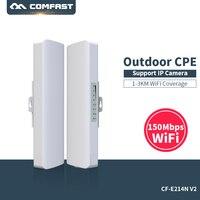 Comfast CF E214NV2 2.4G Wireless outdoor router 2KM WIFI signal booster Amplifier WDS Network bridge 14dBi Antenna wi fi access