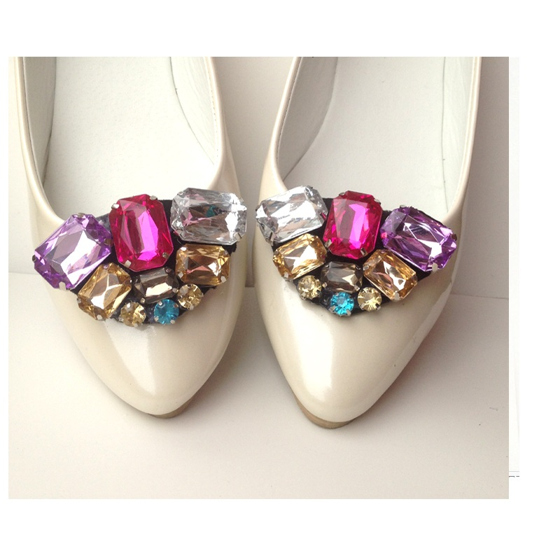 1pair NEW Diy shoes flower charms flats sandals high heel pumps ... d427bf321033