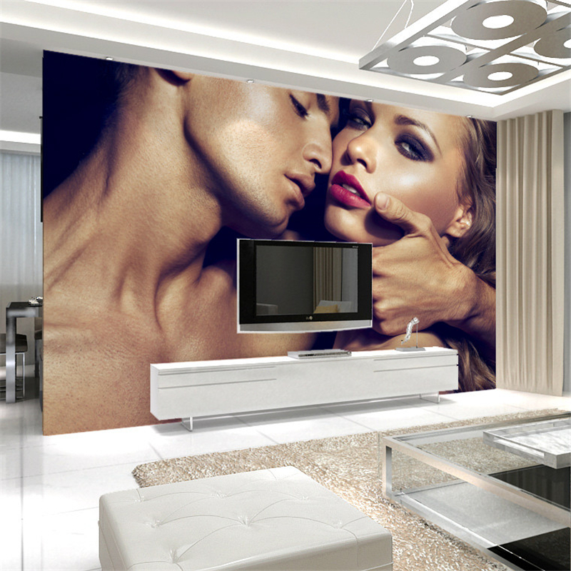 beibehang Large three - dimensional couples sexy ktv bar decoration wallpaper painting bedroom beautiful wallpaper murals lingerie top