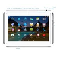 "K107 Yuntab 10.1 ""Android 5.1 Tablet 1 GB + 16 GB Quad-Core Phablet con Cámara Dual Desbloqueado doble Tarjeta Sim GPS"