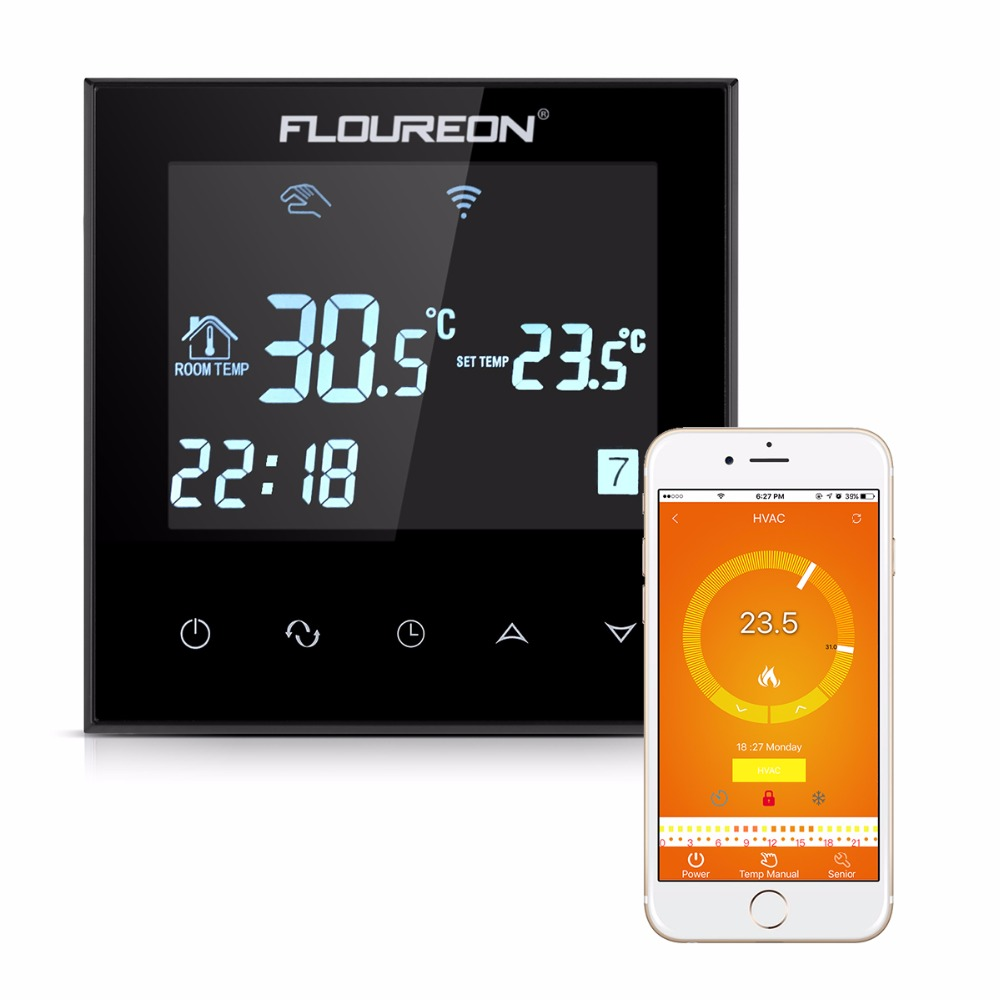 Floureon HY03WE 4 Wifi Smart Wi Fi Programmable Digital Touch Screen Thermostat Heating Thermostat Warm Floor