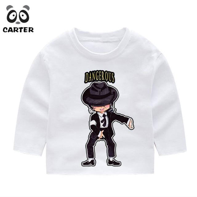 981f037a3 Kid's Michael Jackson Bad Cartoon Long Sleeve T-shirts Boy Girl Winter  Comfortable Print T-Shirt Toddler Christmas Shirts