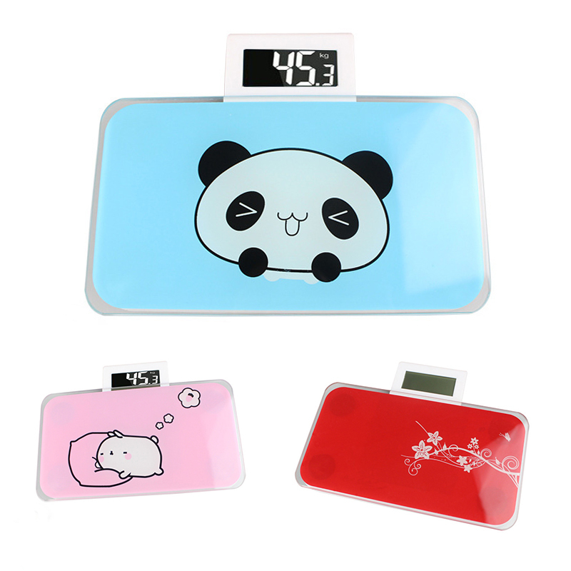 1Pc Portable Precision Body Fat Scales Electronic Scales Bathroom Weight Scales Blue Pink LCD Display Weighing