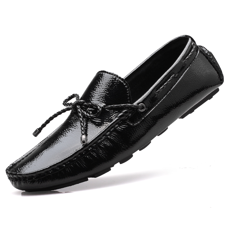 91e9ea31256d Mens smart casual luxury driving brand black leather docksides deck boat  man shoes men flat slip ons loafers zapatos hombre  12-in Men s Casual Shoes  from ...