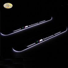 Sncn Moving свет потертости педаль для BMW X5 E70 2013 2014 2015 автомобиля acrylic LED порога Добро пожаловать педали