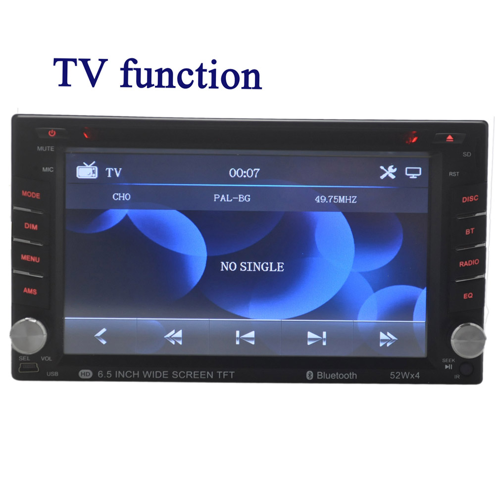 7 overseas warehouse Car Radio Touch Screen USB/SD/AUX 2 Din Remote control Stereo Bluetooth DVD/CD Player free shipping