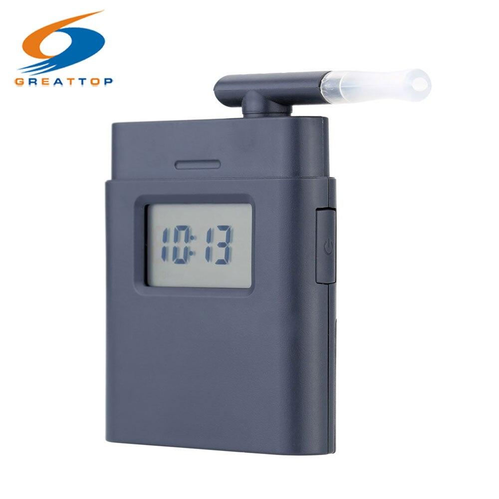 Fabbrica Professionale Boccaglio Breath Alcohol Tester con Visualizzazione del Tempo Pocket Mini Etilometro Alkohol