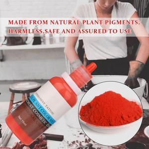 Image 5 - タトゥーインク 15 ミリリットル/ボトル眉毛リップ植物色素永久顔料インク Microblading 化粧品ツール