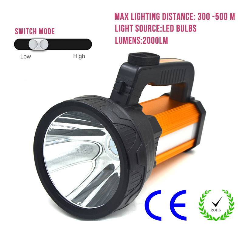 LED Torch Waterproof Rechargeable Flashlight Long Distance 300-500m Outdoor Emergency Night Lamp Fishing Light Camping Hunting uniquefire uf 1200 super bright cree u2 lamp flashlight light from outdoor hiking night fishing hunting led flashlight