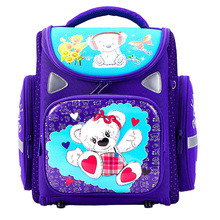 2019 Cartoon School Bags Orthopedic School Backpacks for Girls Boys Bear Tank Car Pattern Backpack Student Mochilas Grade 1-4