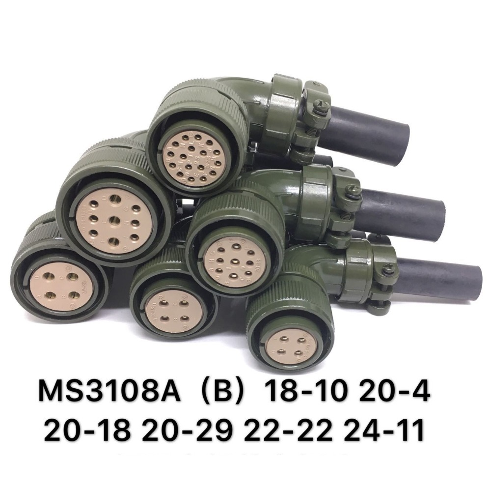 MS3108A MS3108B 18-10 20-4 20-18 20-29P 22-22 24-11S Aviation Plug Connector Pedestal Servo Motor Plug For Panasonic Anchuan