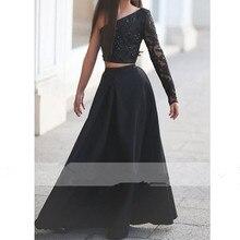 Schwarze Lange Hülse der Schulter Abendkleider blumenmädchen Festzug Kleider Für Mädchen Glitz langen festzug kleider für Kinder