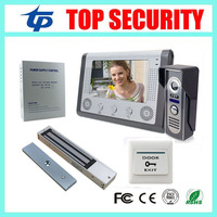 7 Inch Color Screen Video Doorphone Video Doorbell Access Control System Kit Power Supply Magnetic Lock