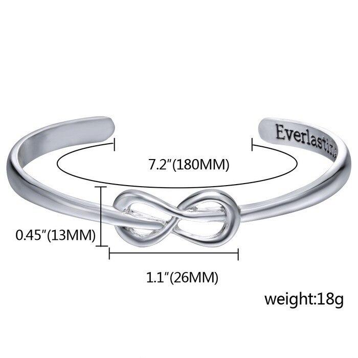 Opened Cuff Infinity Bracelet
