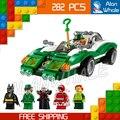 282 unids Nuevo Super Heroes Batman Película 07059 El Enigma Enigma racer diy modelo kit de construcción de bloques de juguete regalos compatible con lego