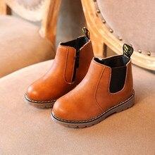 Hot 2016 Autumn Winter Boys Girls Boots Kids Shoes Children Boys Girls Martin Boots Handmade Leather Boots Baby Boys Girls Shoes