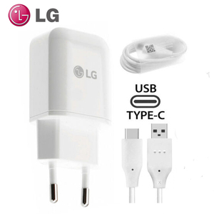 Image 1 - オリジナル LG G5 EU プラグ高速トラベル壁の充電器 + タイプ C Lg ネクサス G5 V30 V20 g6 F800 F700 H860N H990N MCS H05WD