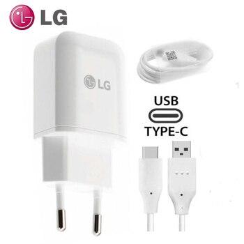 Original LG G5 EU Plug Fast Travel Wall Charger + Type C USB Cable For Nexus V30 V20 G6 F800 F700 H860N H990N MCS-H05WD