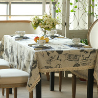 The new classical Home Furnishing tablecloth lace table table cloth art Hepburn Vintage linen tablecloths shipping