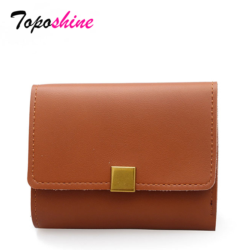 Frosted Wallet Female Short Paragraph New Korean Folding Soft Wallet Retro Buckle Card Bag Fashion Mini Coin Pocket Tide