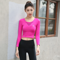 Gym Shirt Women Hollow Out Fitness Breathable Sportswear T Shirt Sport Suit Yoga Top Quick Dry